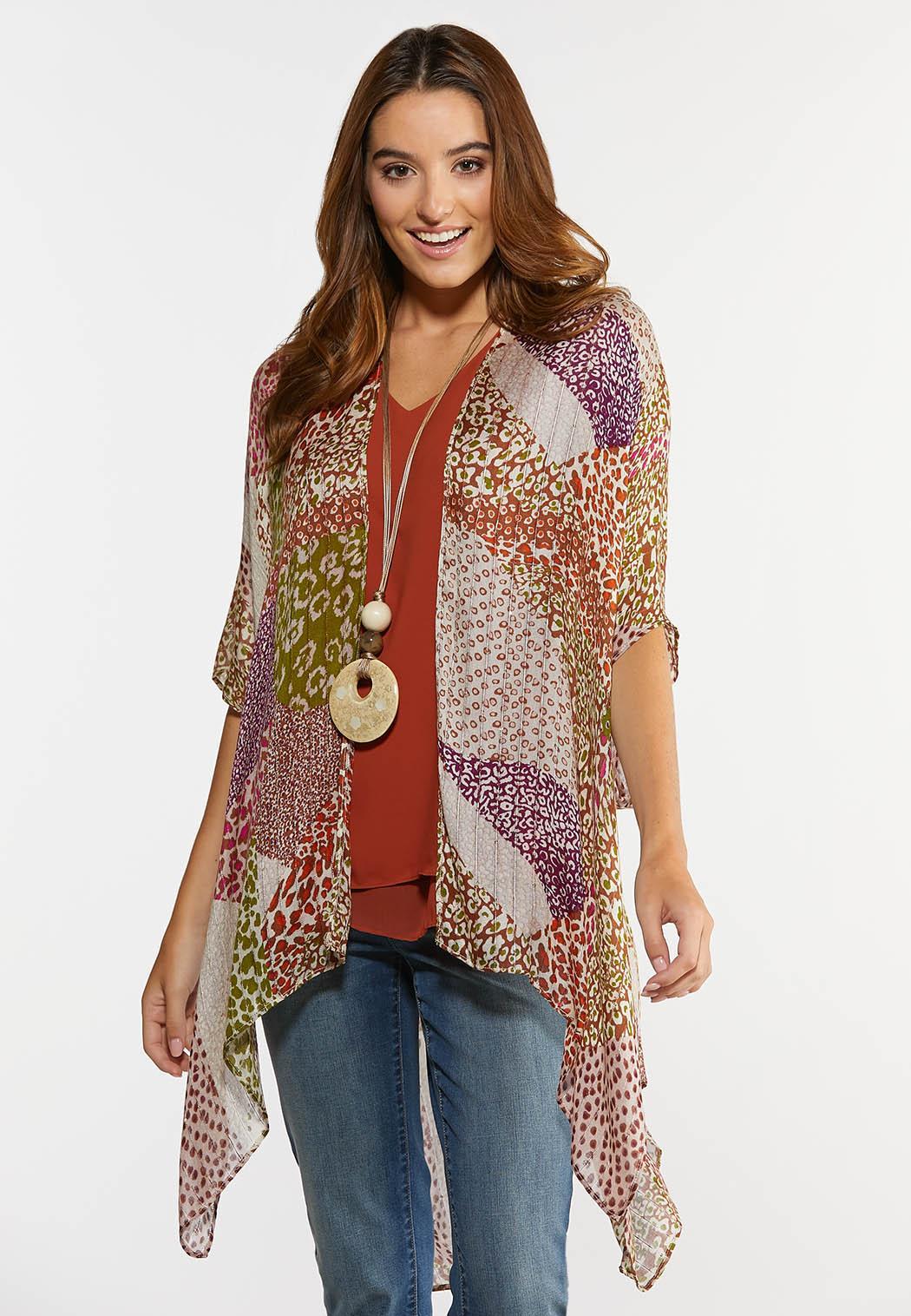 Patchwork Animal Print Kimono (Item #44282414)