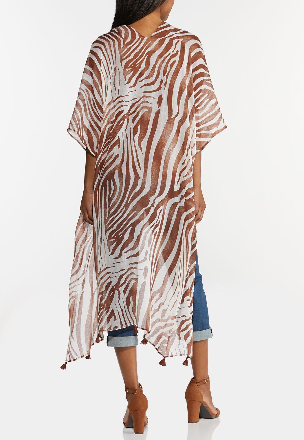Tasseled Zebra Kimono (Item #44282579)