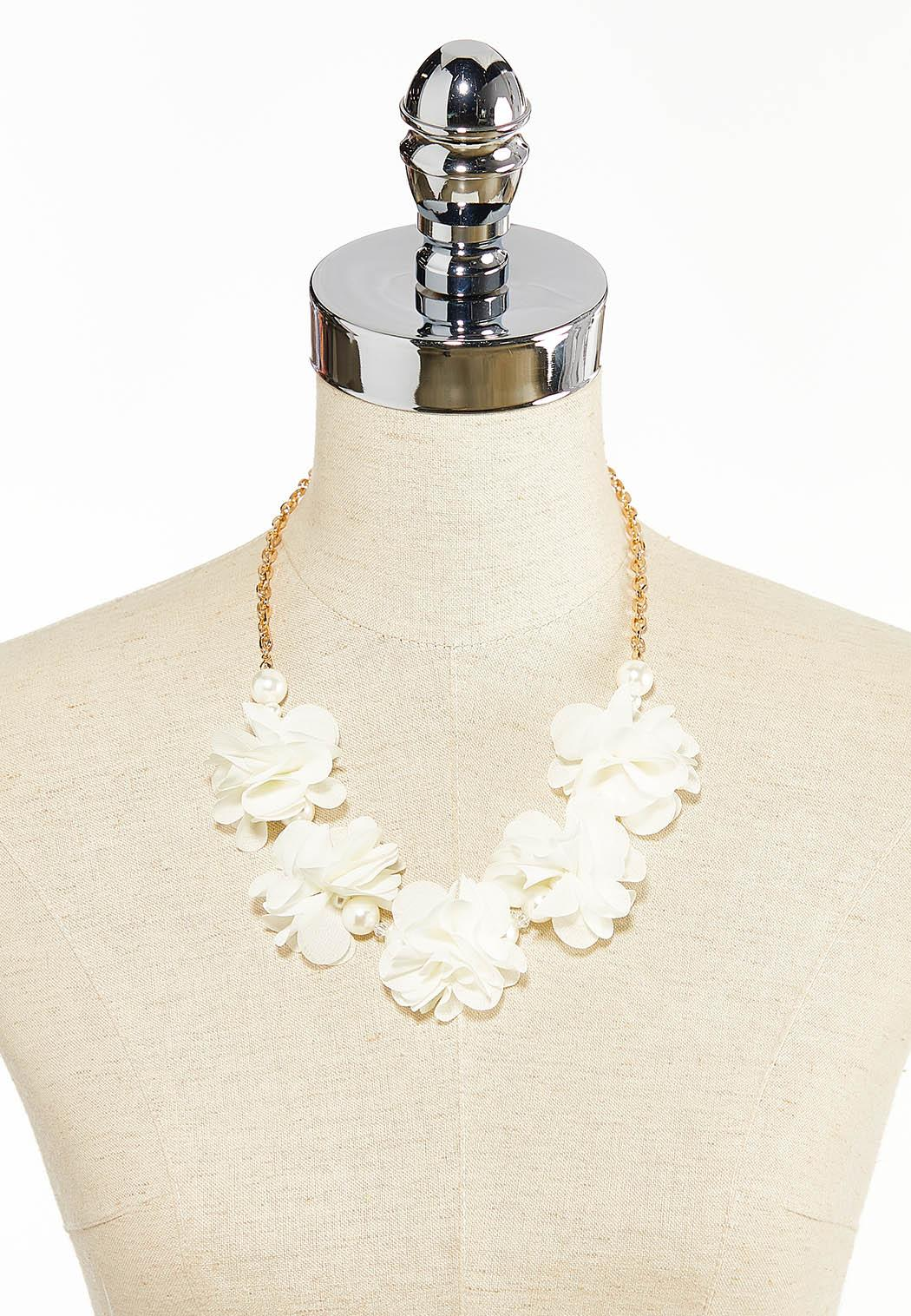 Pearl Chiffon Petal Necklace (Item #44282821)