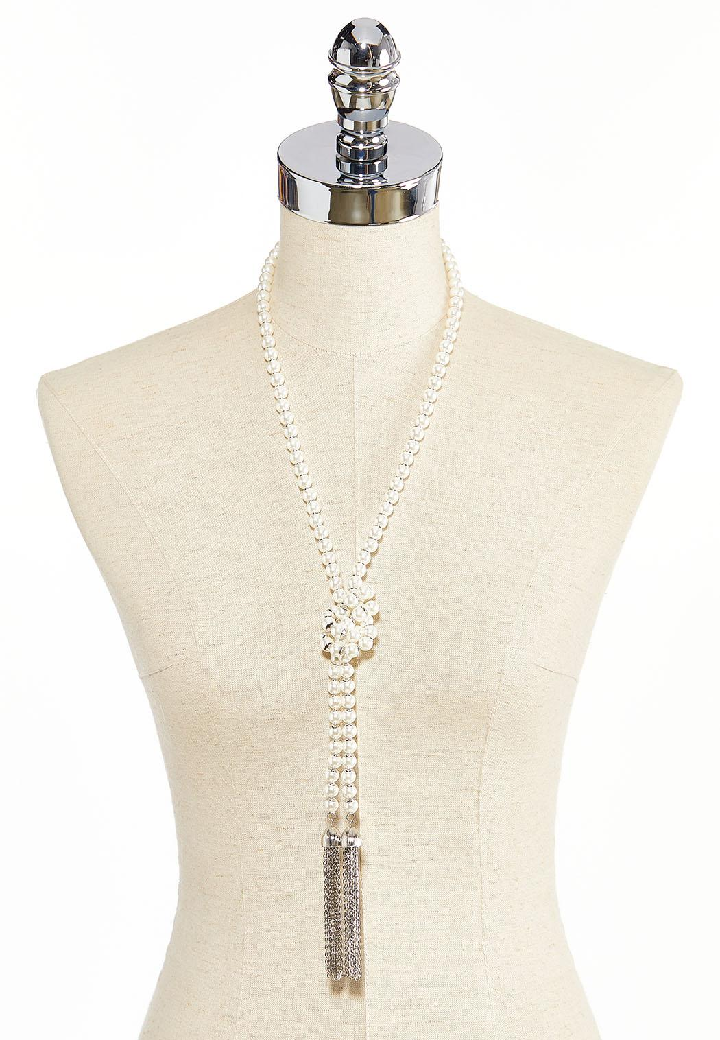 Pearl Y-Neck Chain Tassel Necklace (Item #44282828)