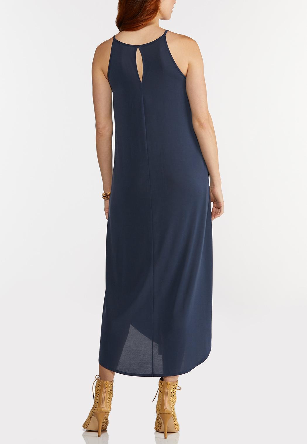 Plus Size Stretch Navy Midi Dress (Item #44282992)