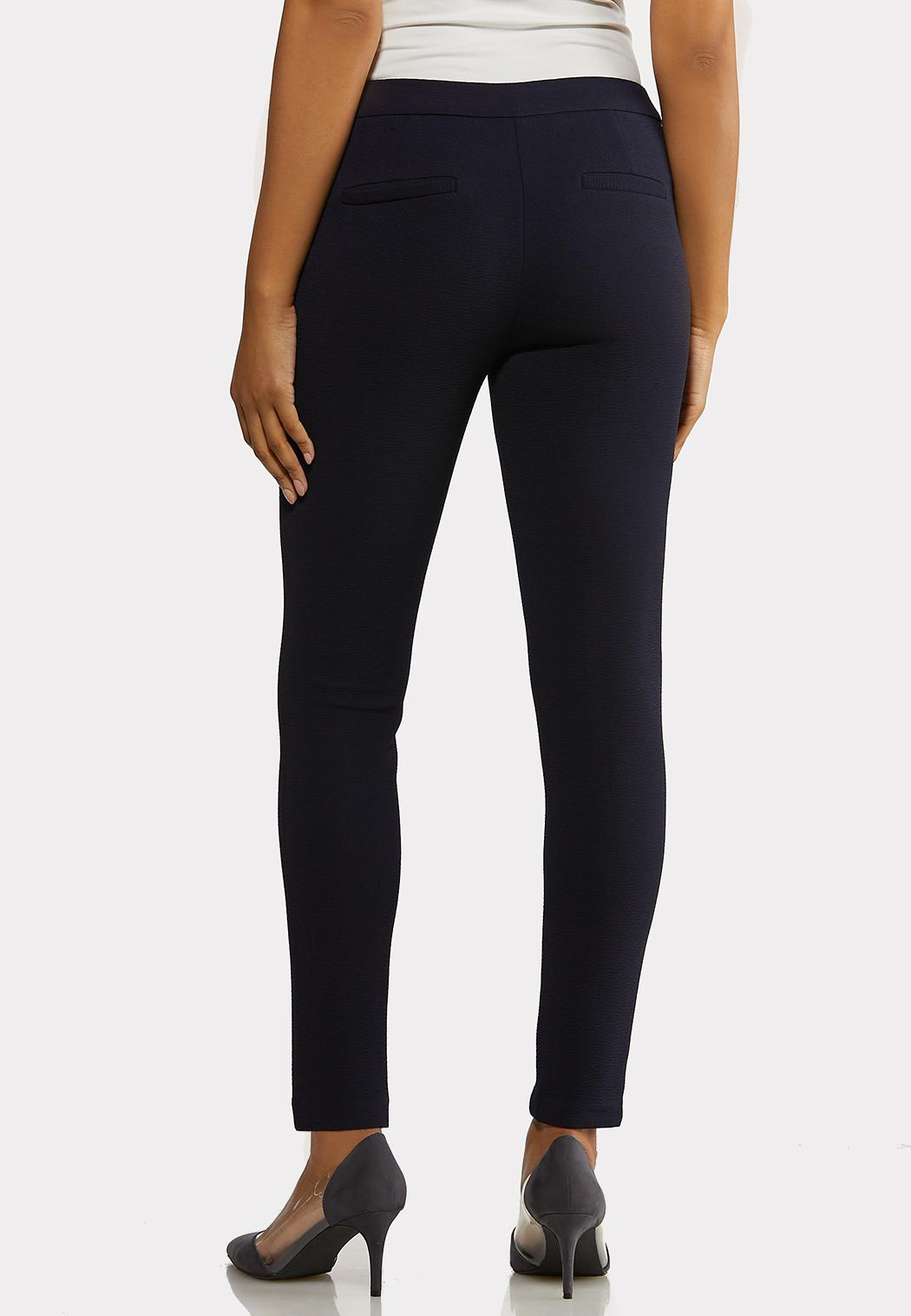 Textured Navy Slim Pants (Item #44283031)
