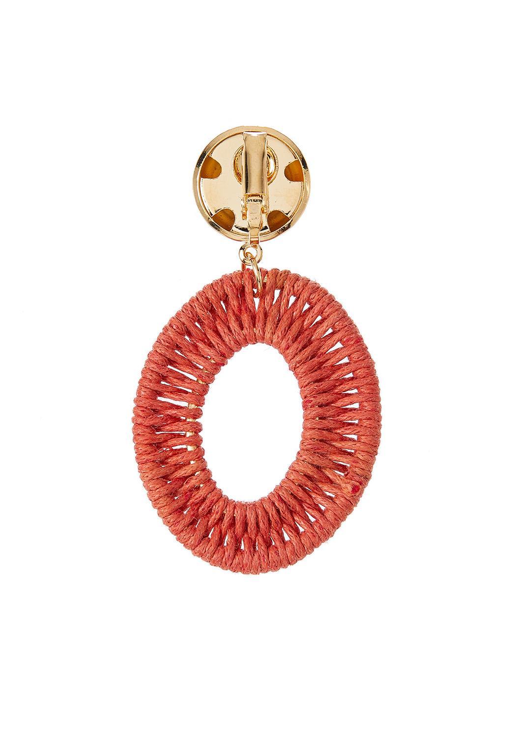 Oval Thread Wrap Clip-On Earrings (Item #44283083)