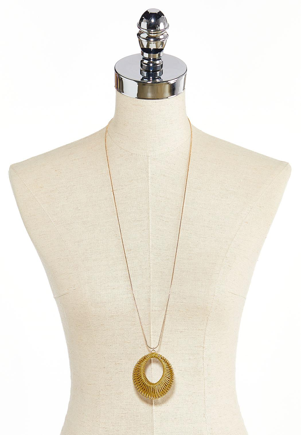 Thread Wrapped Pendant Necklace (Item #44283088)