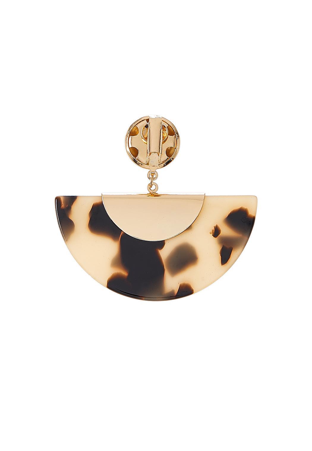 Tortoise Half Moon Earrings (Item #44283617)