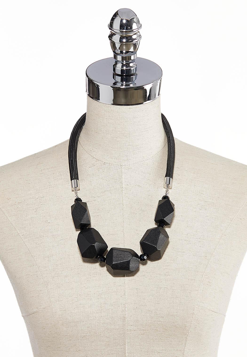 Short Geo Wood Necklace (Item #44283716)