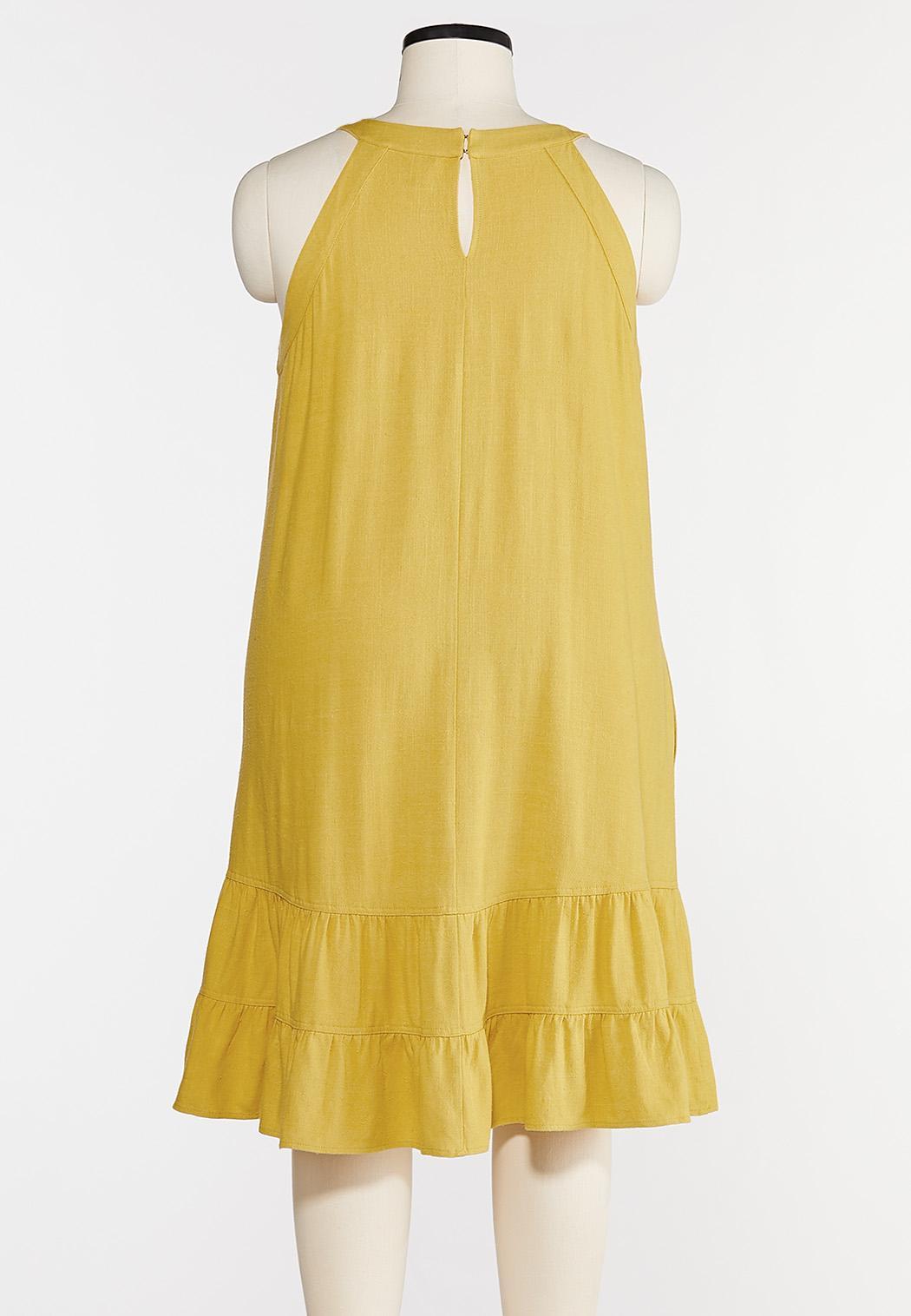 Plus Size Linen Swing Dress (Item #44284776)