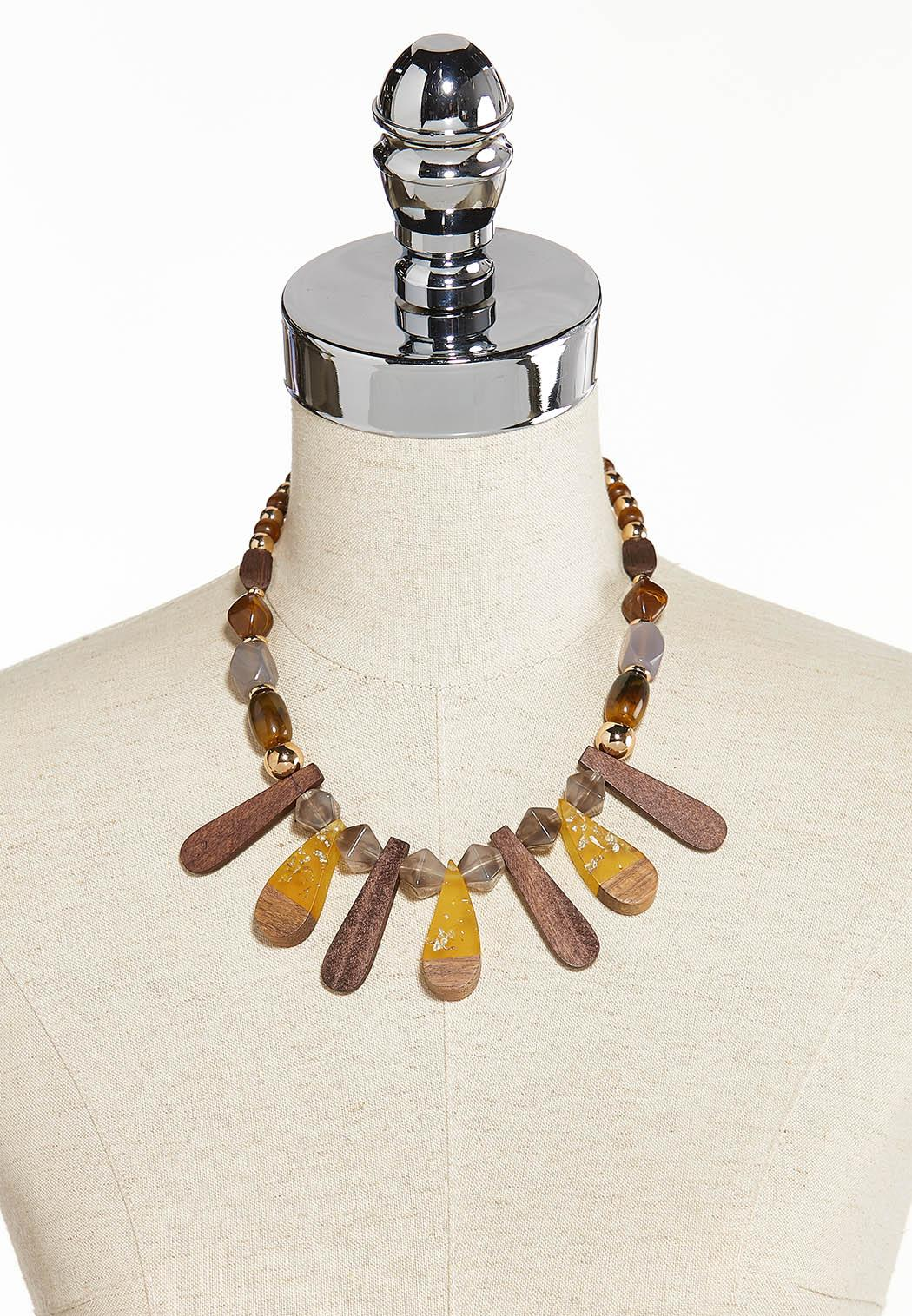 Tribal Wood Resin Necklace (Item #44284991)