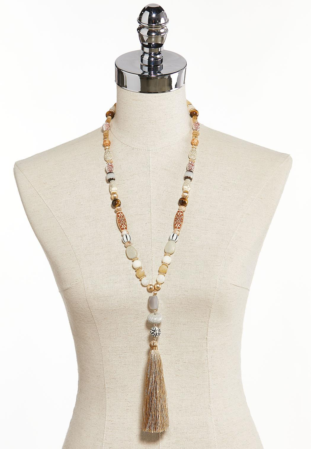 Sandy Beach Tassel Necklace (Item #44284993)