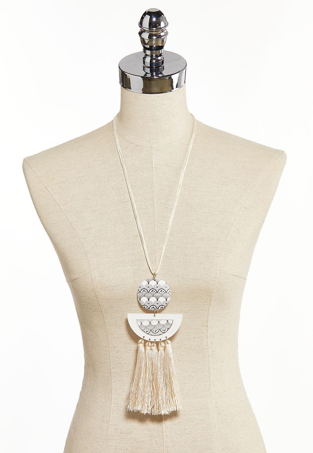 Tribal Tassel Necklace (Item #44285104)