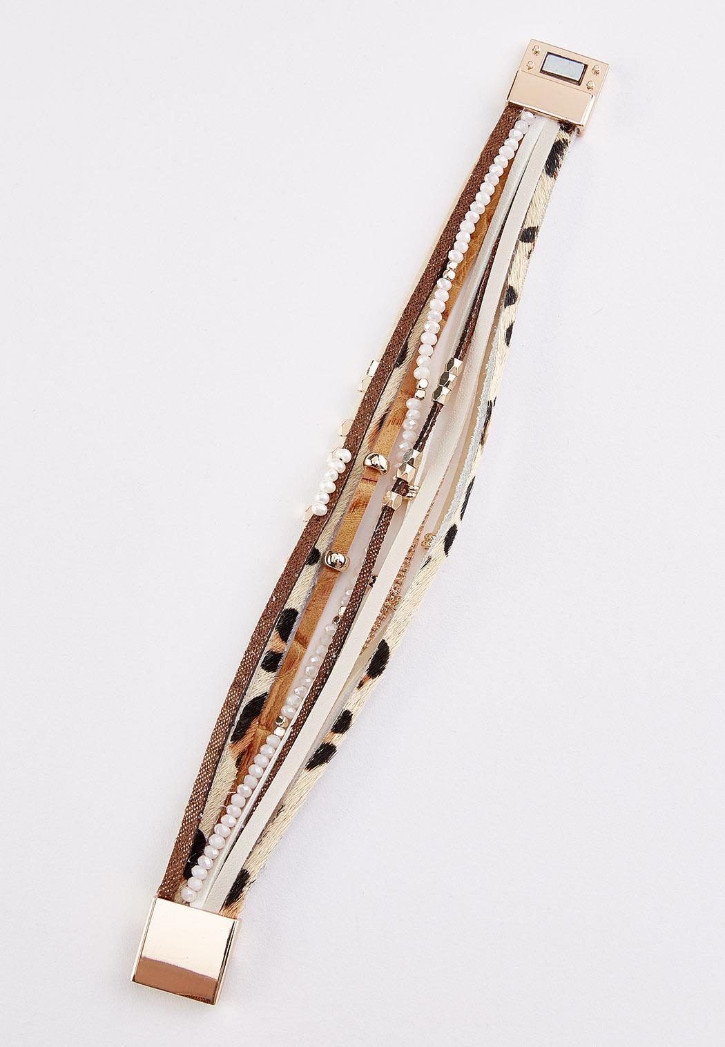 Strappy Safari Faux Suede Bracelet (Item #44285200)