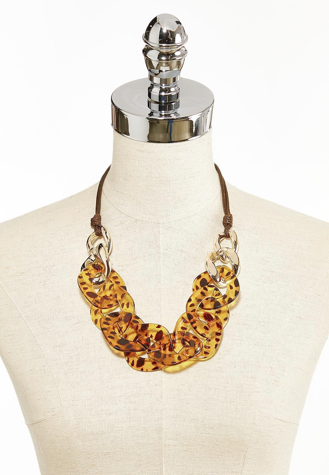 Tortoise Resin Link Necklace (Item #44285639)
