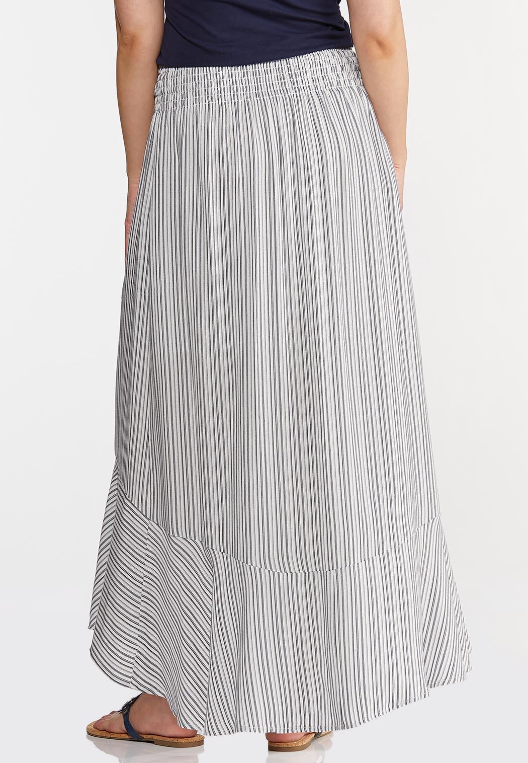 Plus Size Breezy Striped Maxi Skirt (Item #44287818)