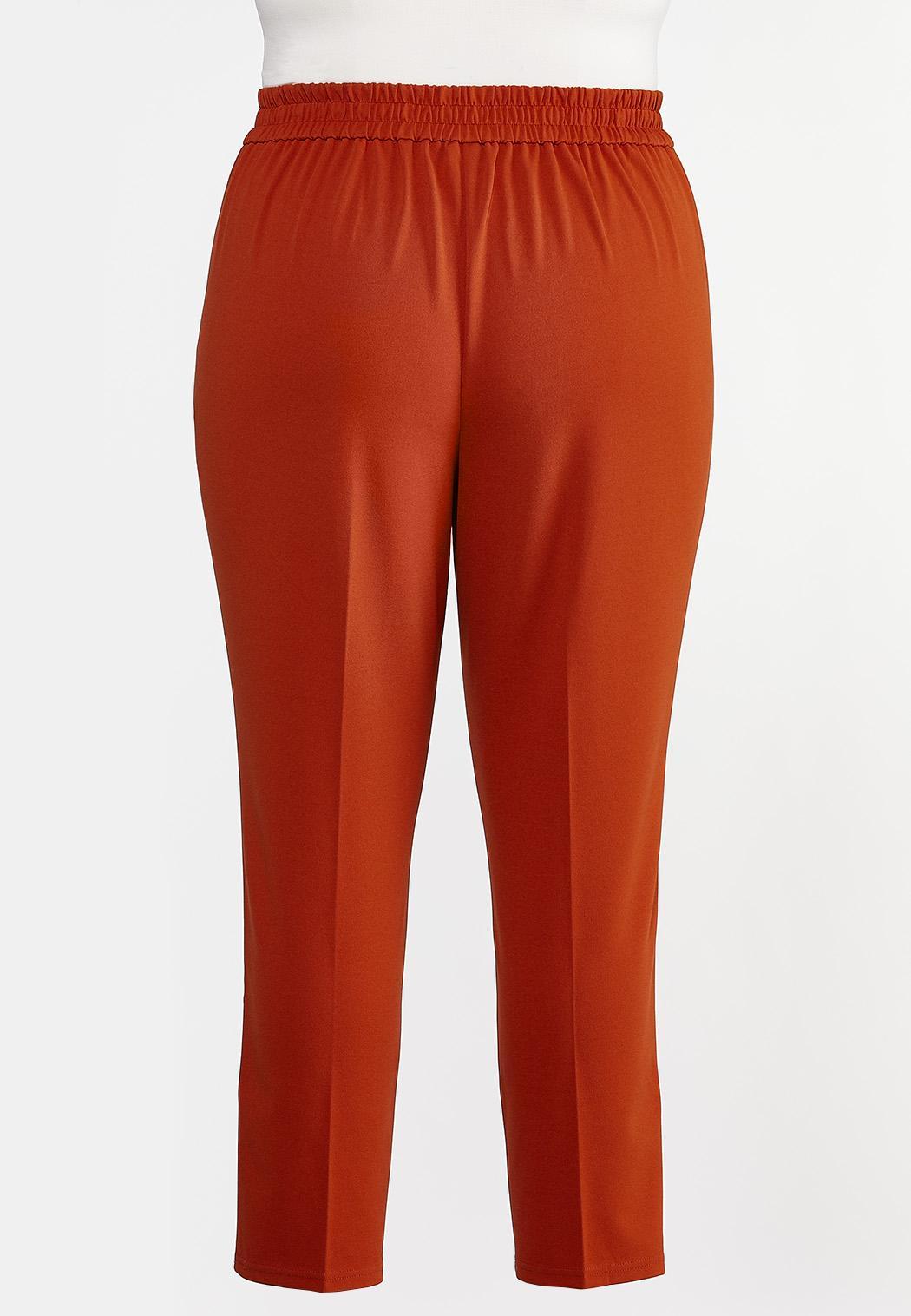 Plus Size Slim Tie Waist Pants (Item #44288562)