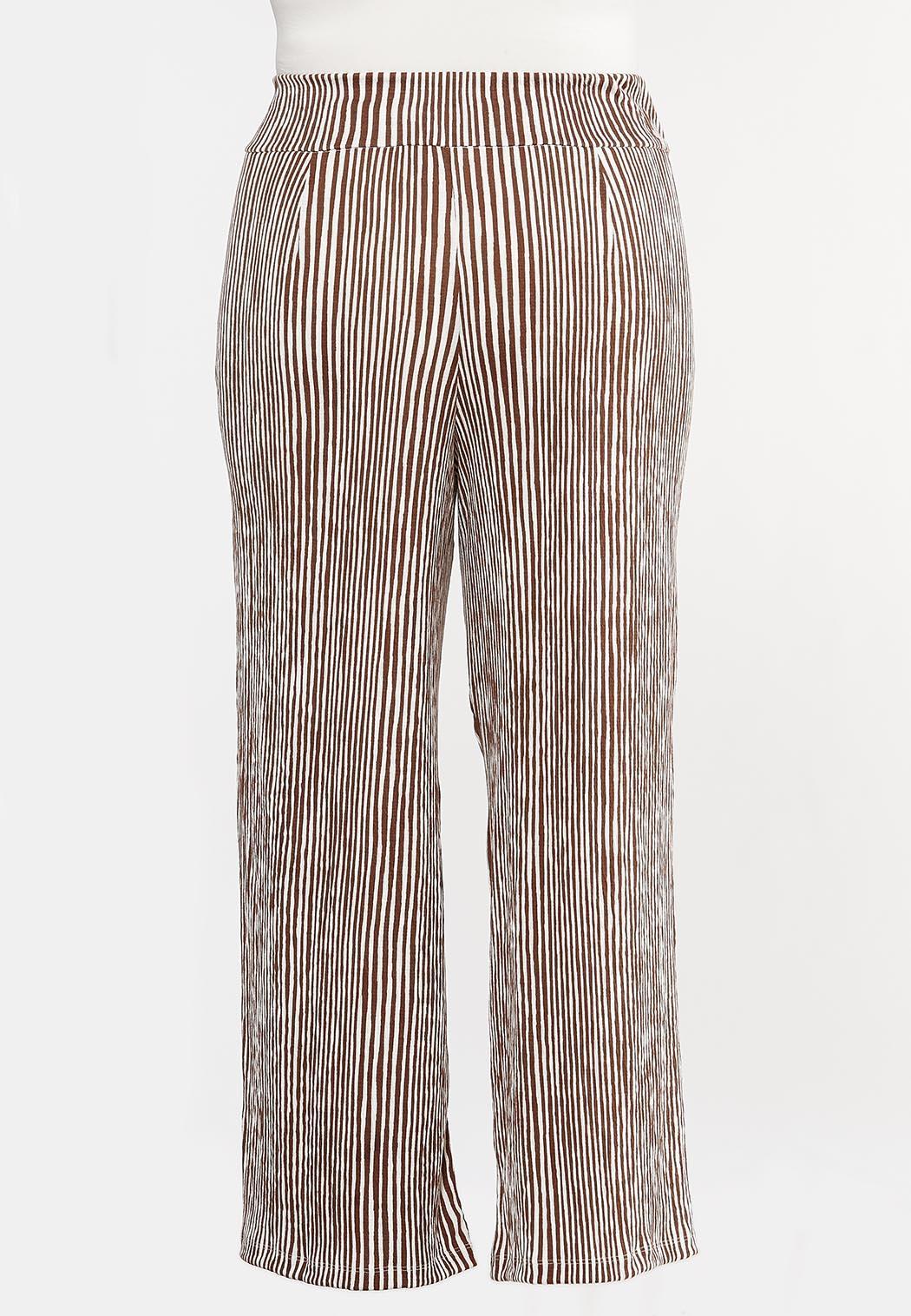 Plus Petite Gauzy Stripe Palazzo Pants (Item #44289002)