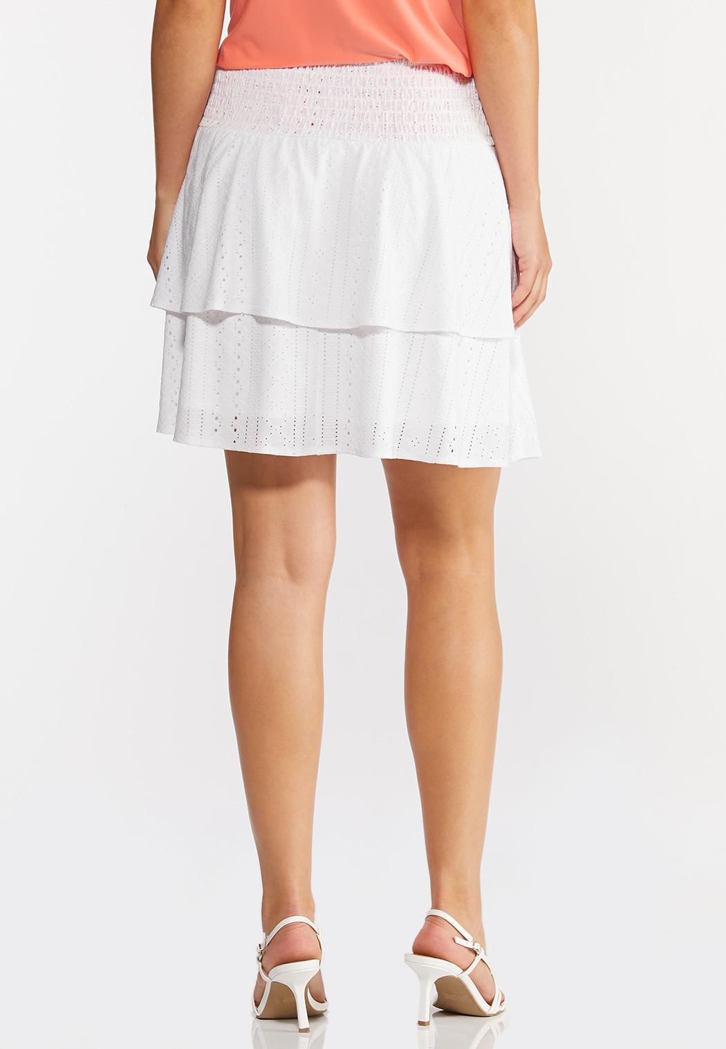 Tiered Eyelet Skirt (Item #44289026)