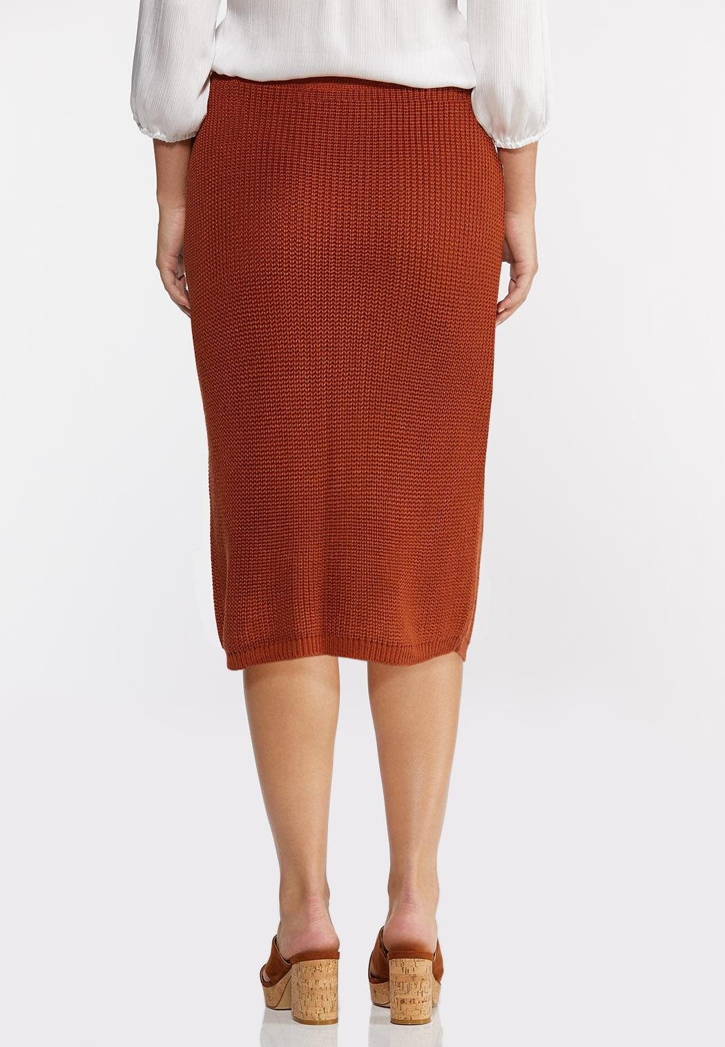 Plus Size Rust Sweater Skirt (Item #44289108)
