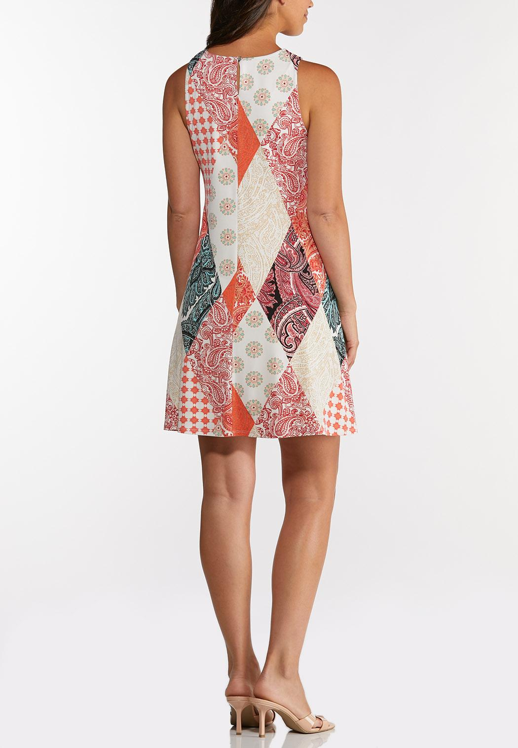 Plus Size Diamond Swing Dress (Item #44289247)