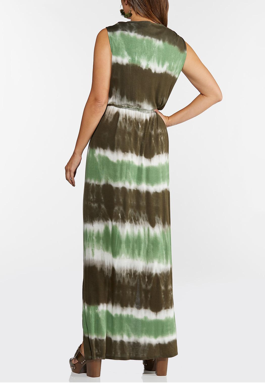 Plus Size Tie Dye Maxi Dress (Item #44289314)