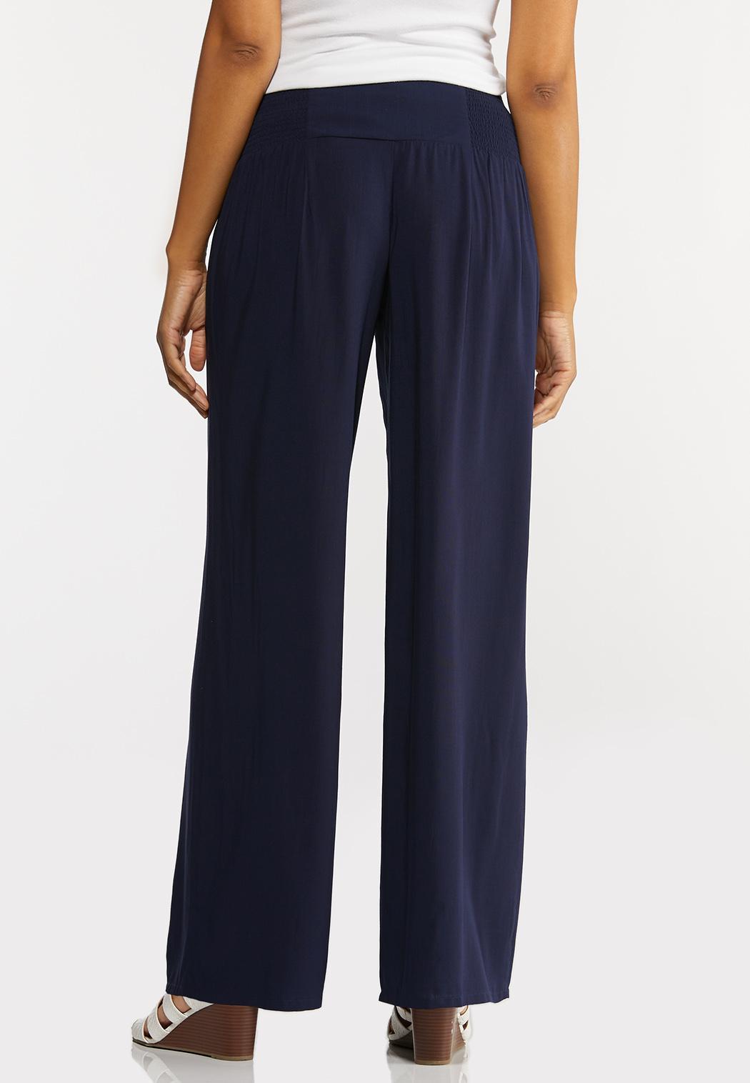 Petite Smocked Button Pants (Item #44289343)