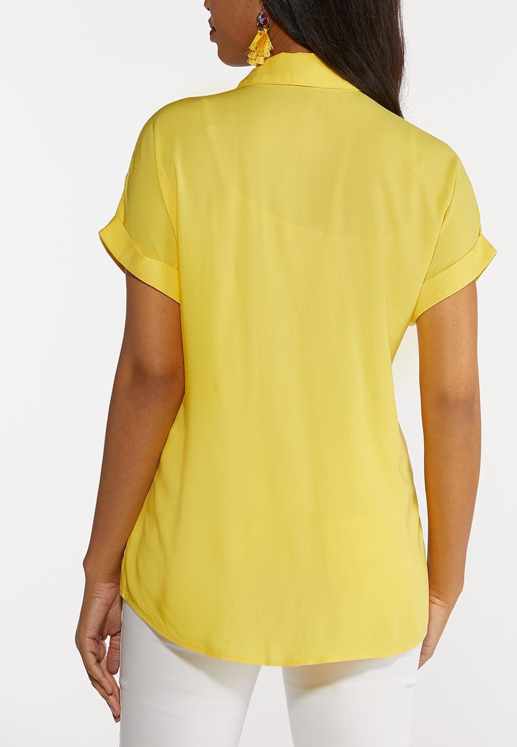 Eyelet Pocket Collared Shirt (Item #44289380)
