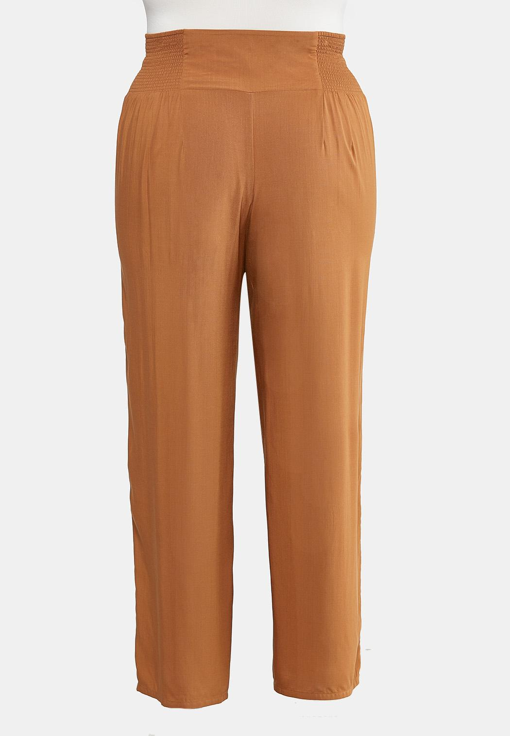 Plus Size Smocked Button Pants (Item #44289867)