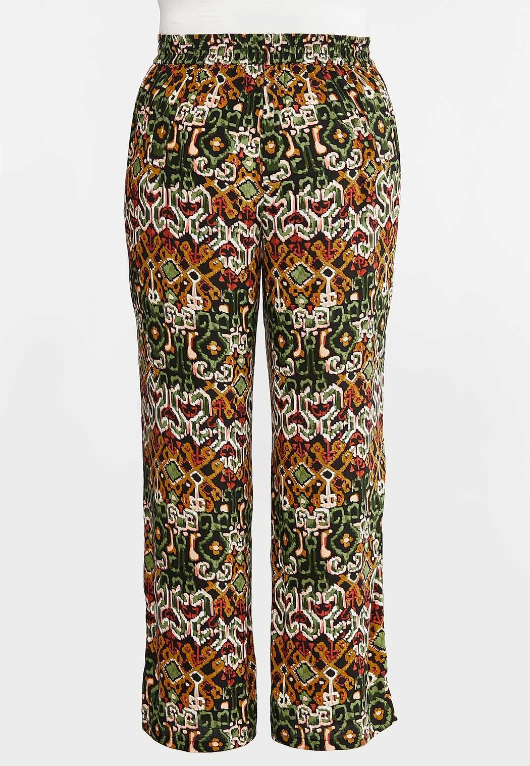 Plus Size Multi Deco Palazzo Pants (Item #44290086)