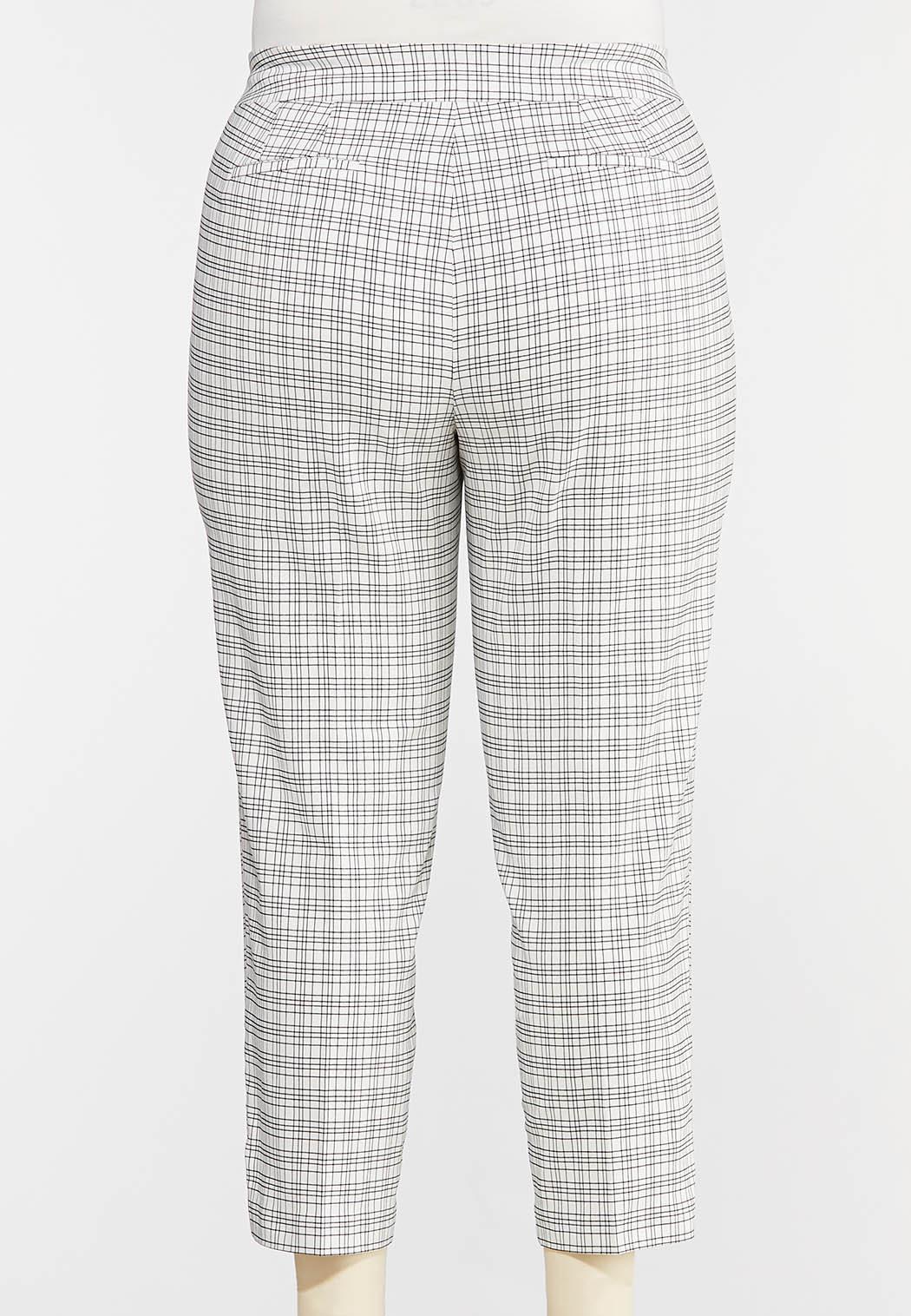 Plus Size Windowpane Pants (Item #44290515)