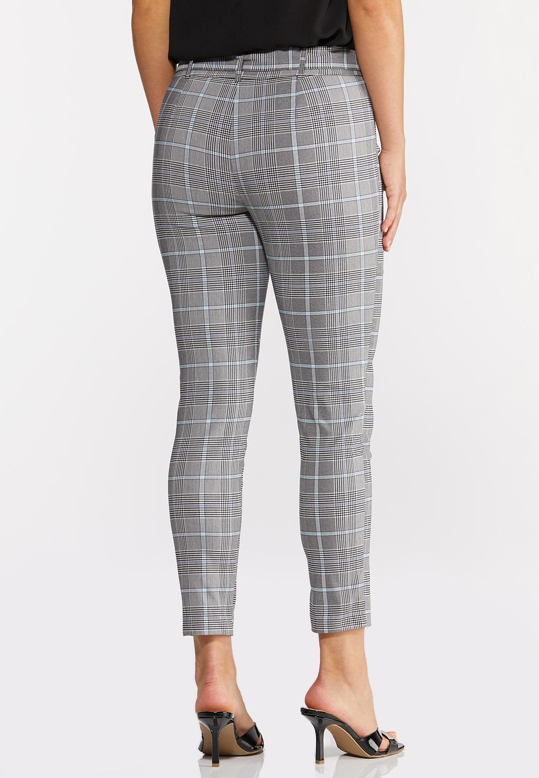 Plaid Belted Bengaline Pants (Item #44290744)