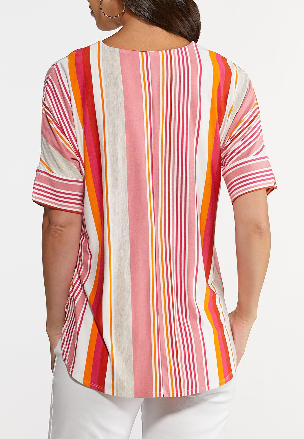 Citrus Stripe High-Low Top (Item #44291189)