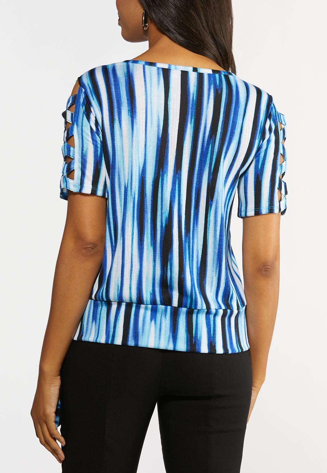 Ocean Blue Stripe Top (Item #44291633)
