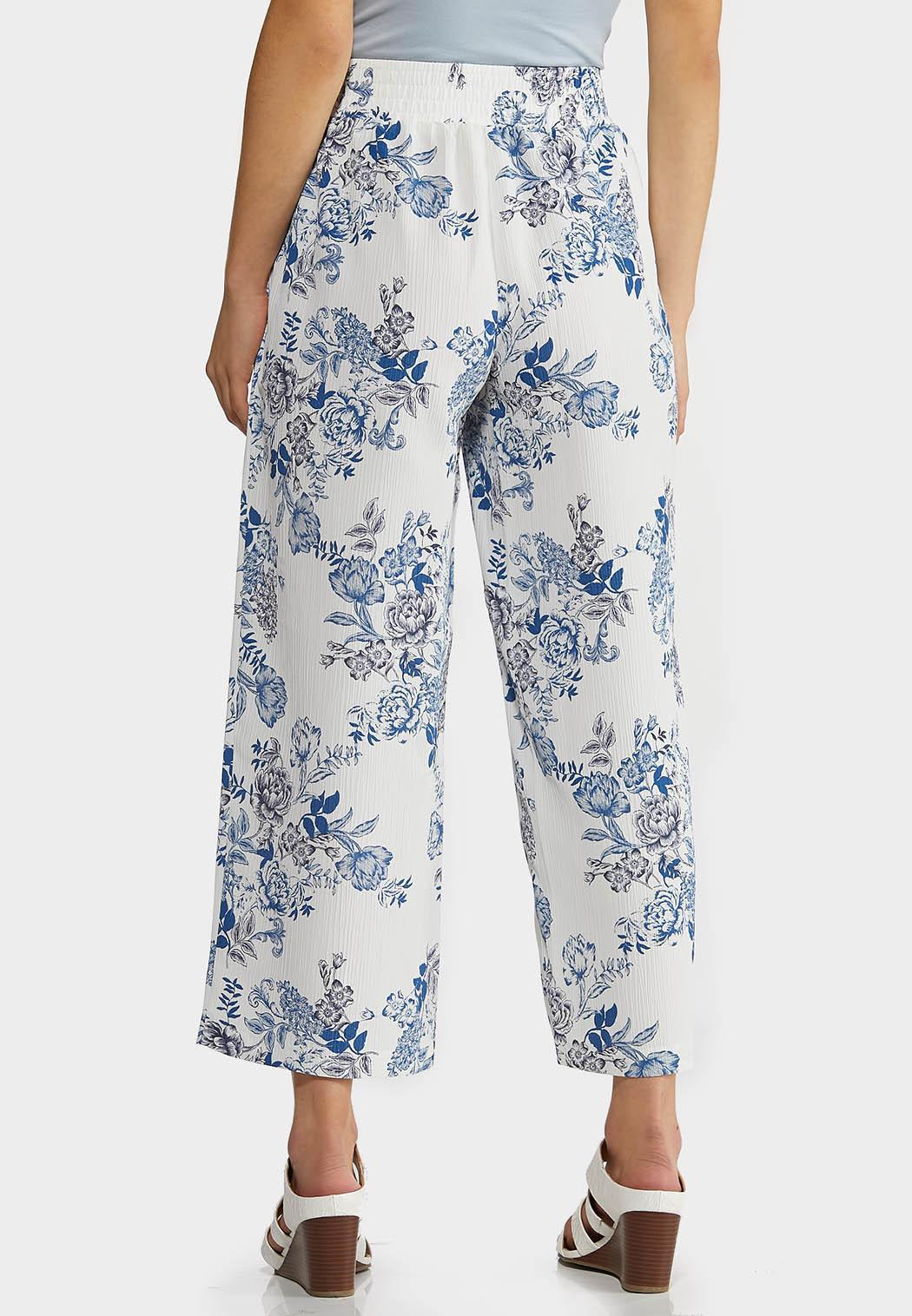 Textured Floral Pants (Item #44291688)