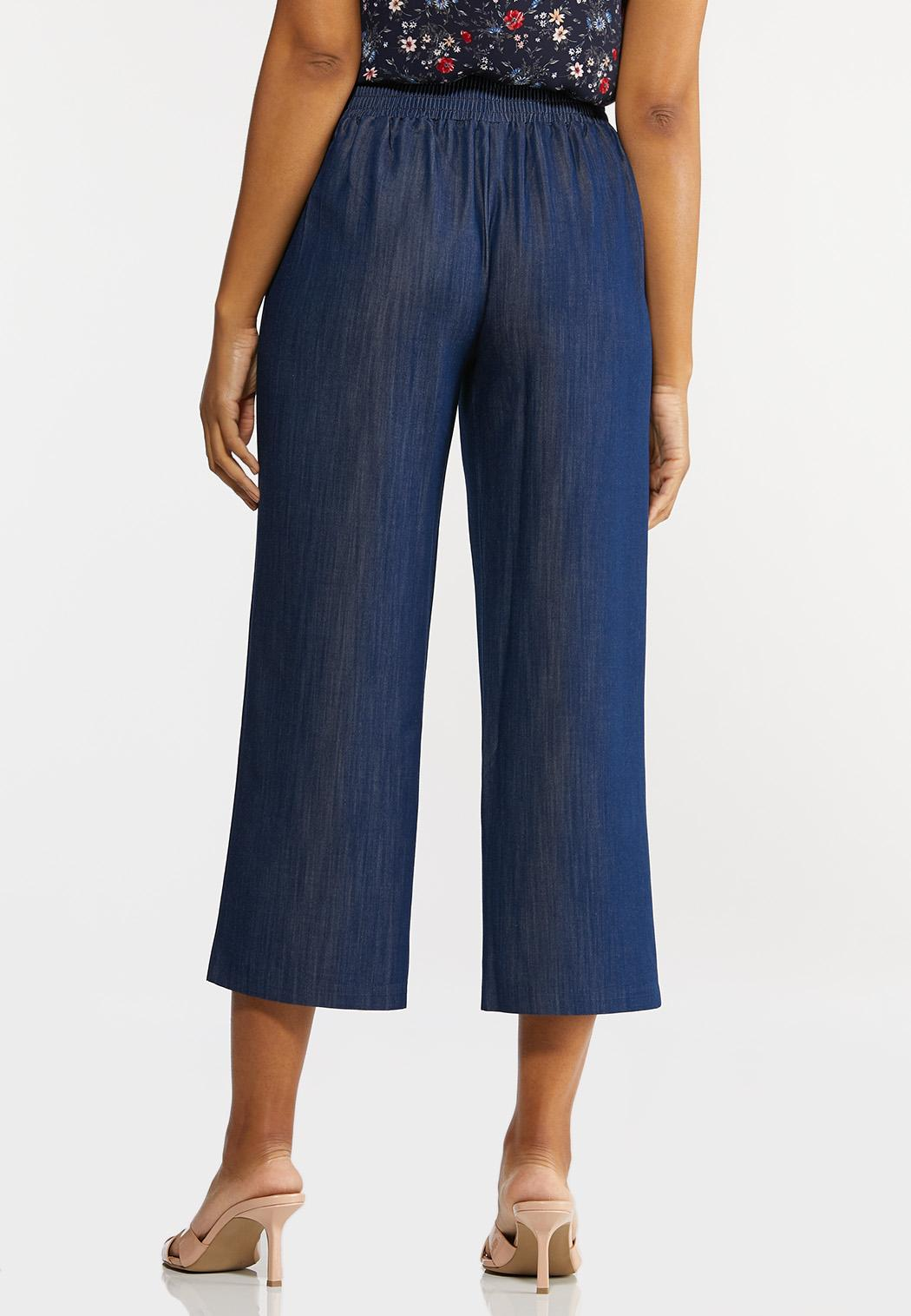 Cropped Denim Blue Pants (Item #44291752)