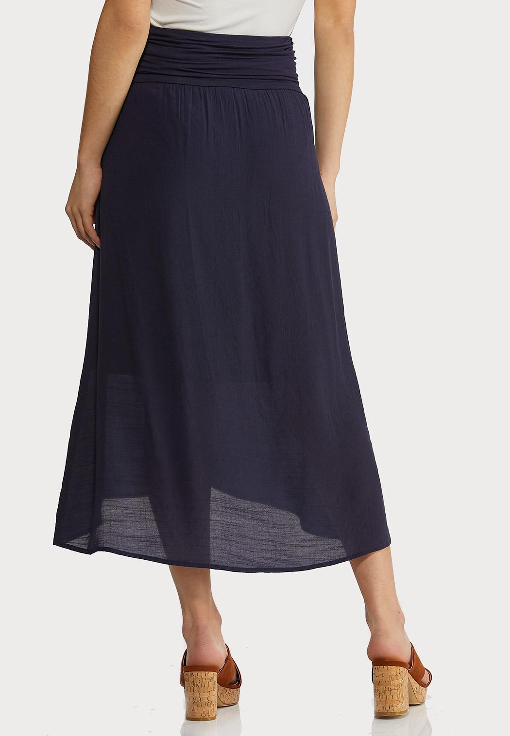 Solid Wrap Midi Skirt (Item #44291854)