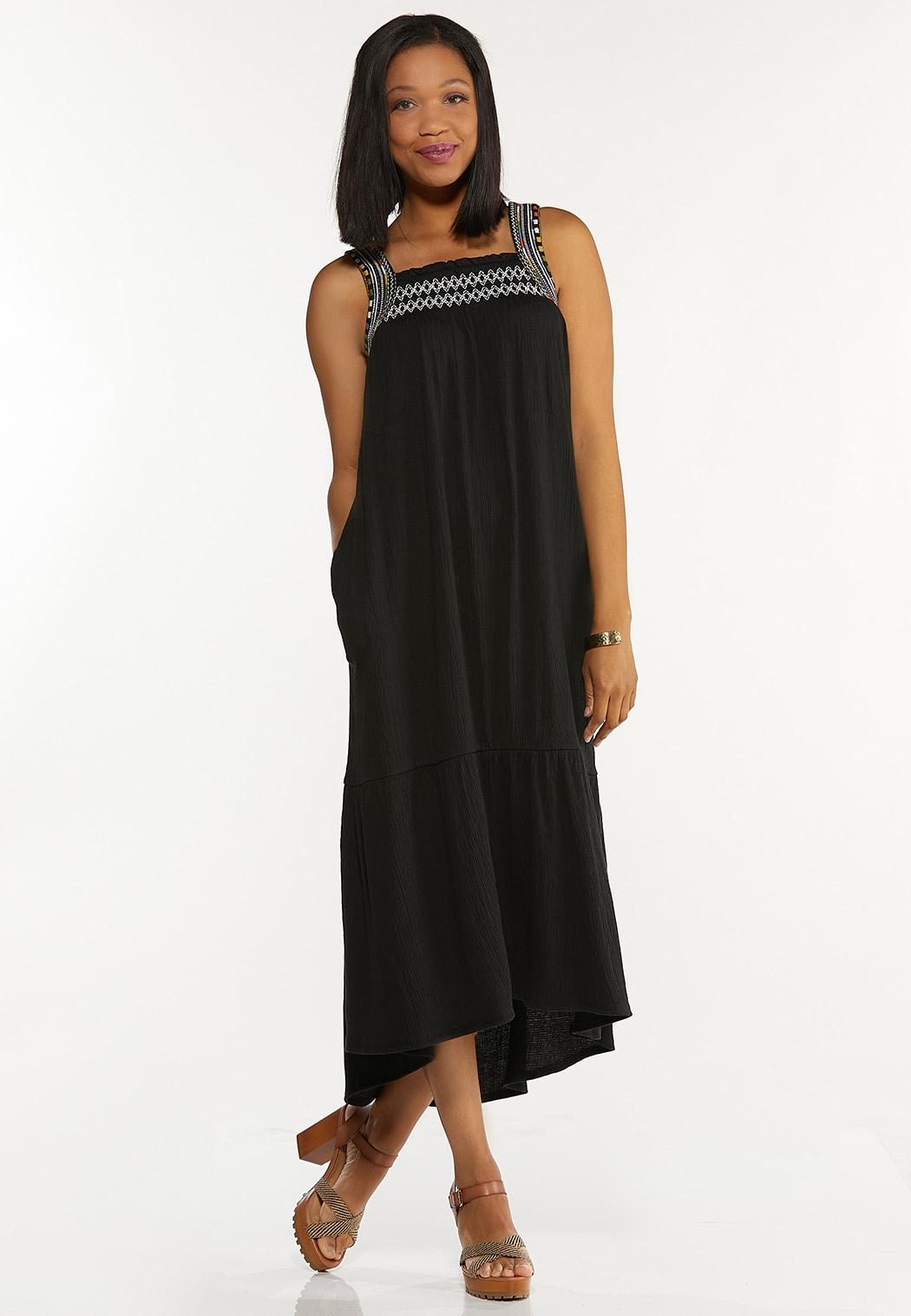 Plus Size Gauzy Embroidered Dress (Item #44293154)