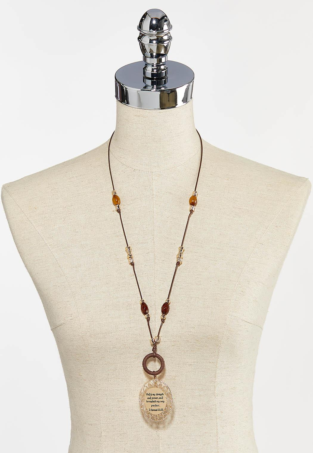 God Is Strength Pendant Necklace (Item #44293290)