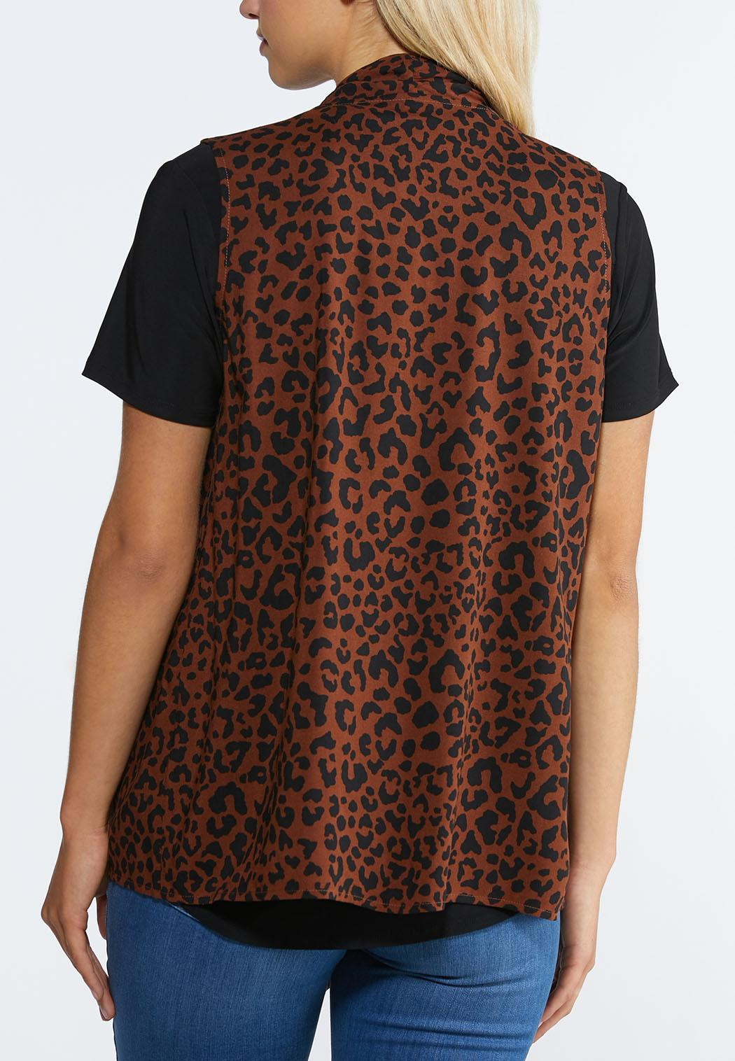 Plus Size Leopard Print Vest (Item #44294110)
