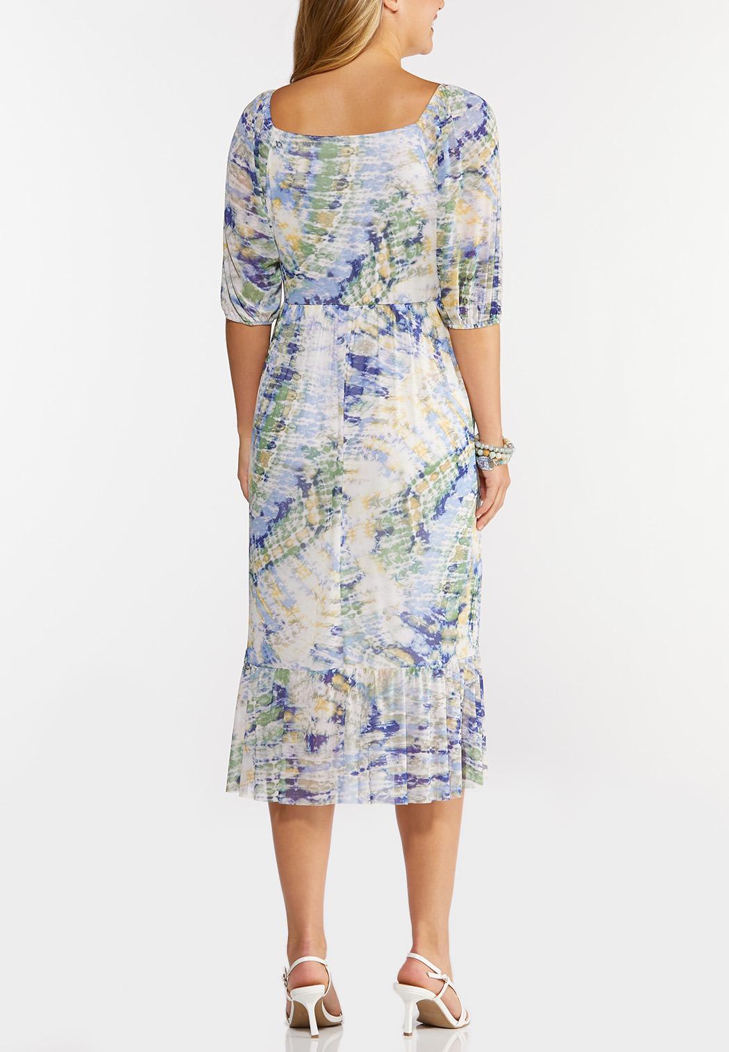 Mesh Watercolor Midi Dress (Item #44294742)