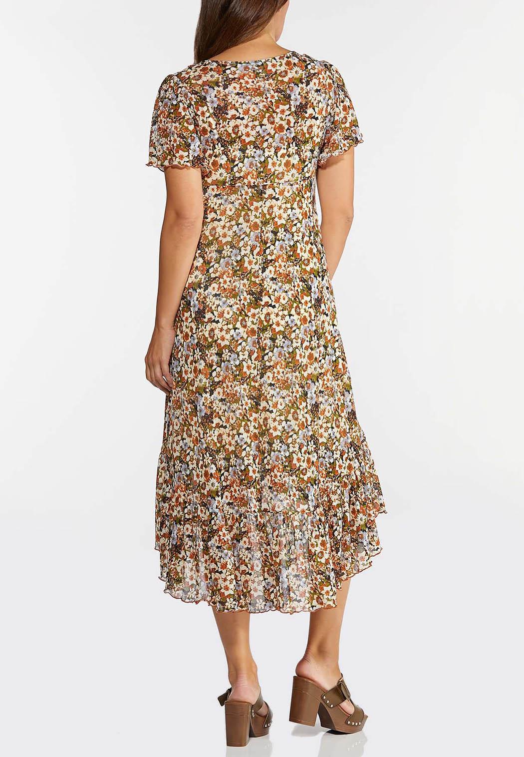 Mesh Floral High-Low Dress (Item #44294773)