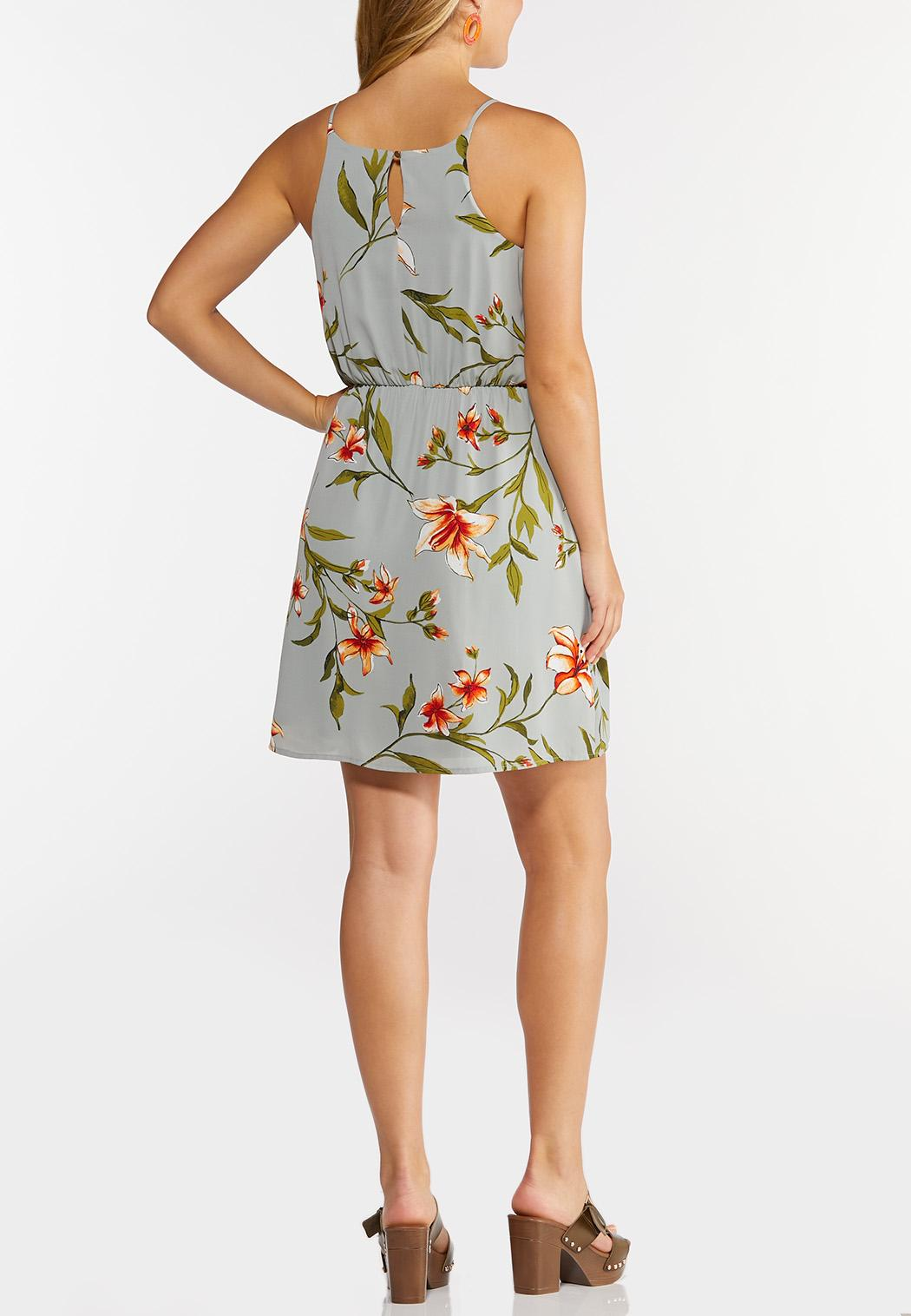 Floral Tie Waist Dress (Item #44294868)