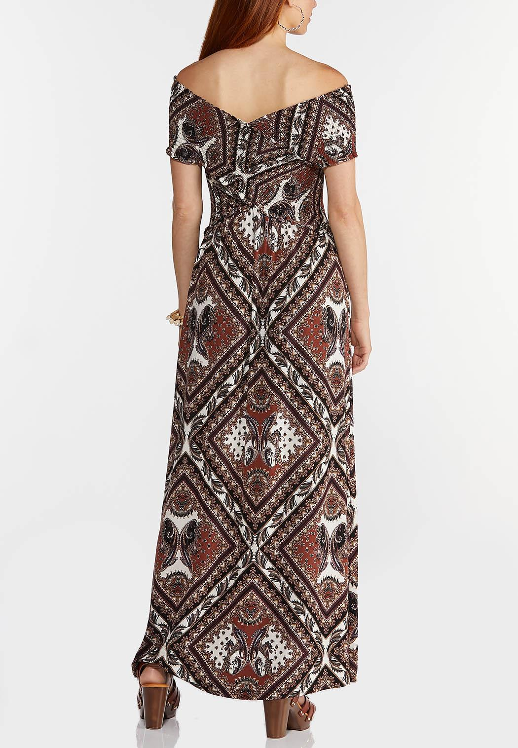 Smocked Bodice Maxi Dress (Item #44294872)