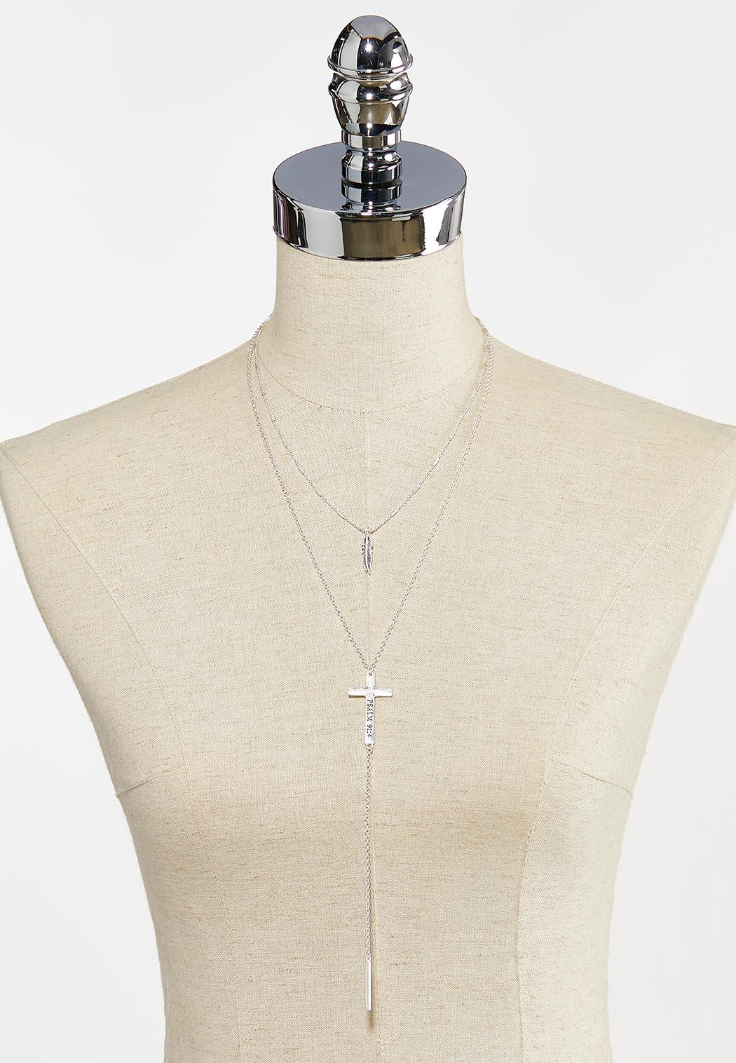 Layered Inspirational Y-Necklace (Item #44295060)