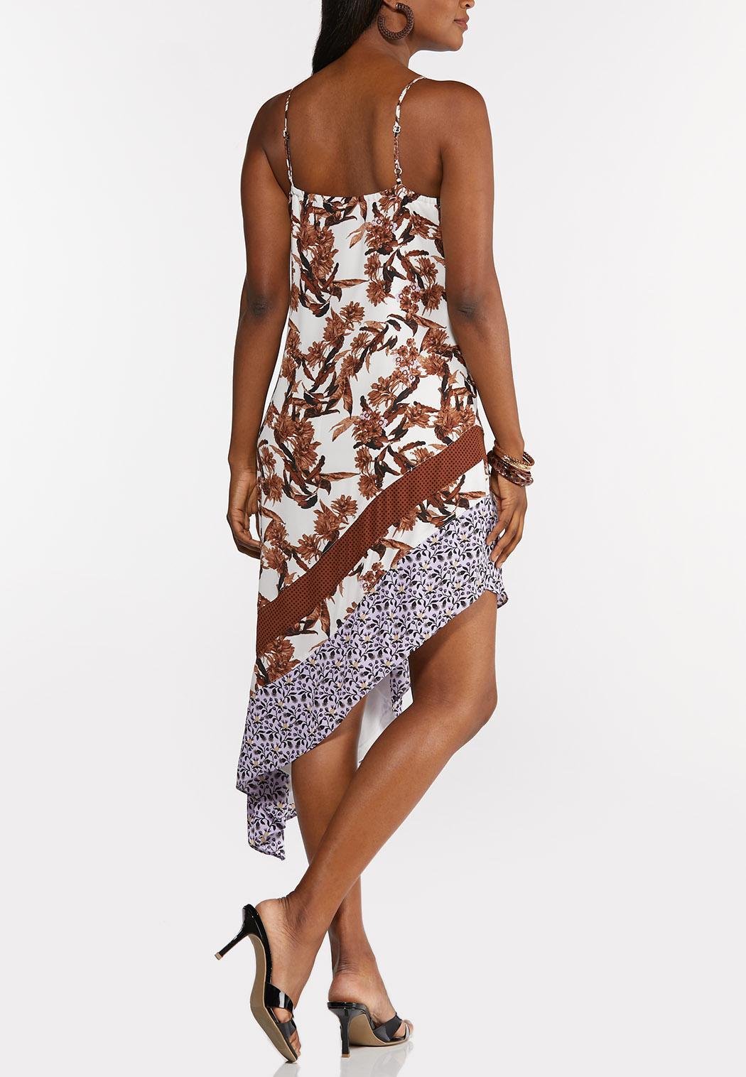 Floral Asymmetrical Slip Dress (Item #44295064)