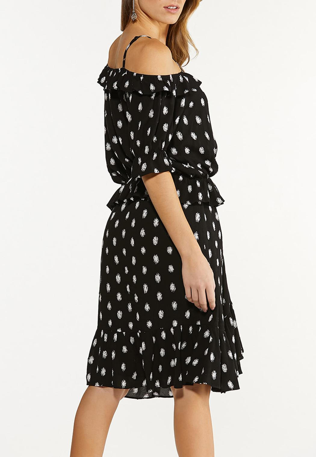 Fuzzy Dot Top And Skirt Set (Item #44295077)