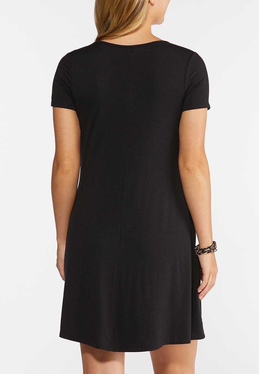 Plus Size Ruffled Pocket Shirt Dress (Item #44295157)