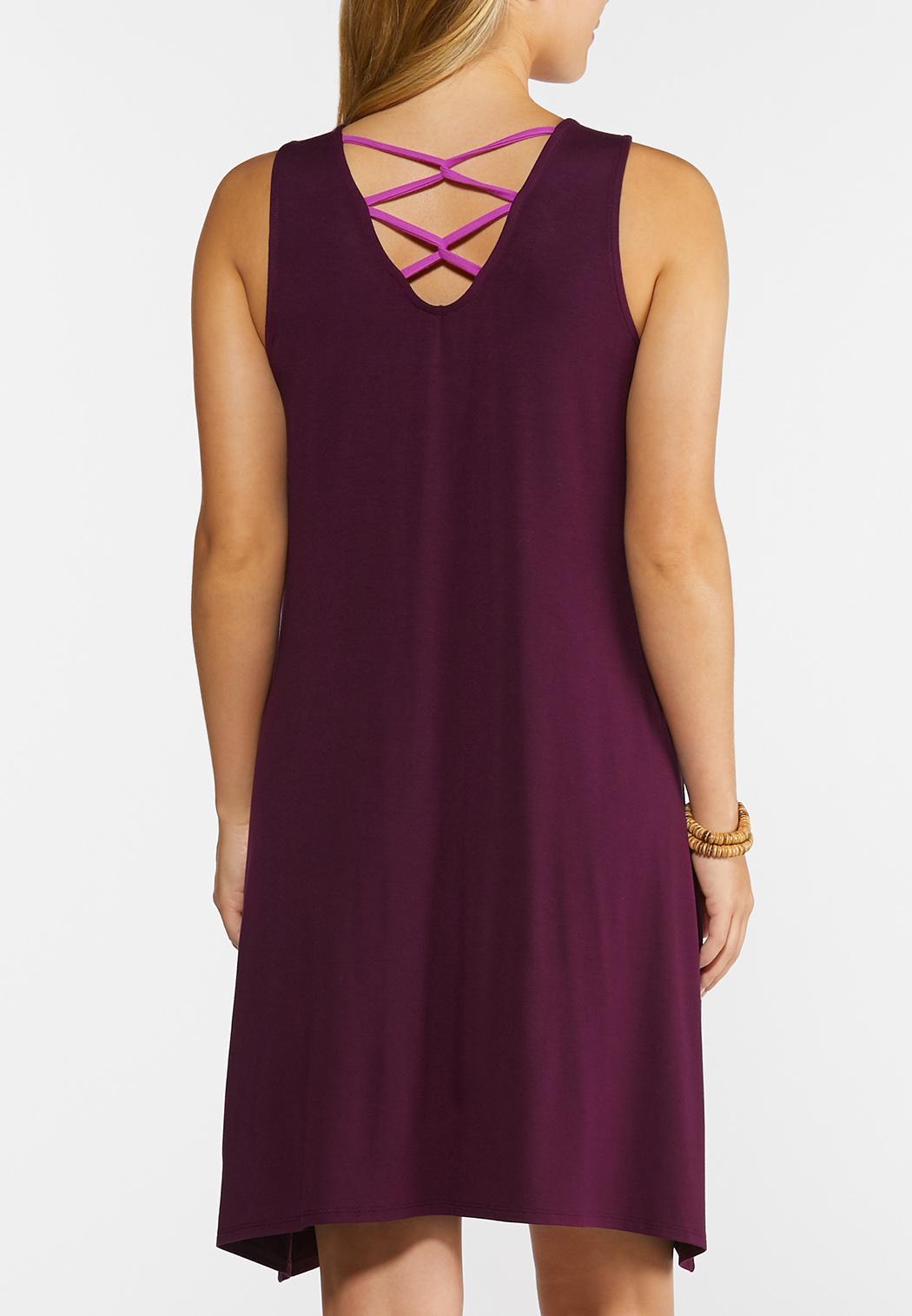 Criss Cross Back Shirt Dress (Item #44295227)
