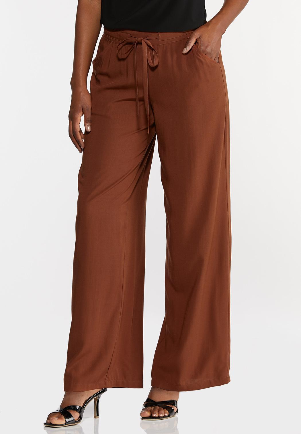 Petite Solid Wide Leg Pants (Item #44295539)