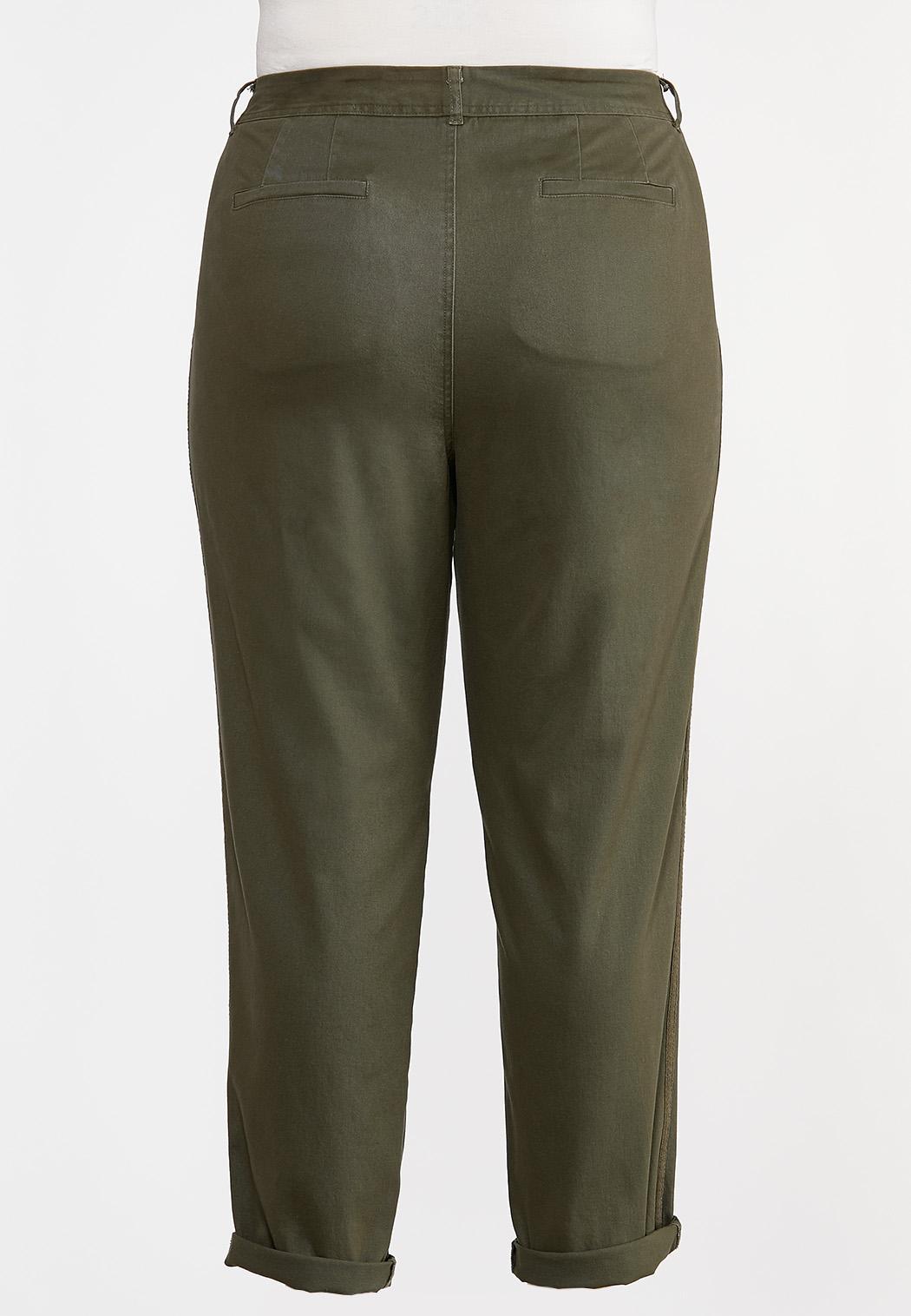 Plus Size Utility Chino Pants (Item #44295690)