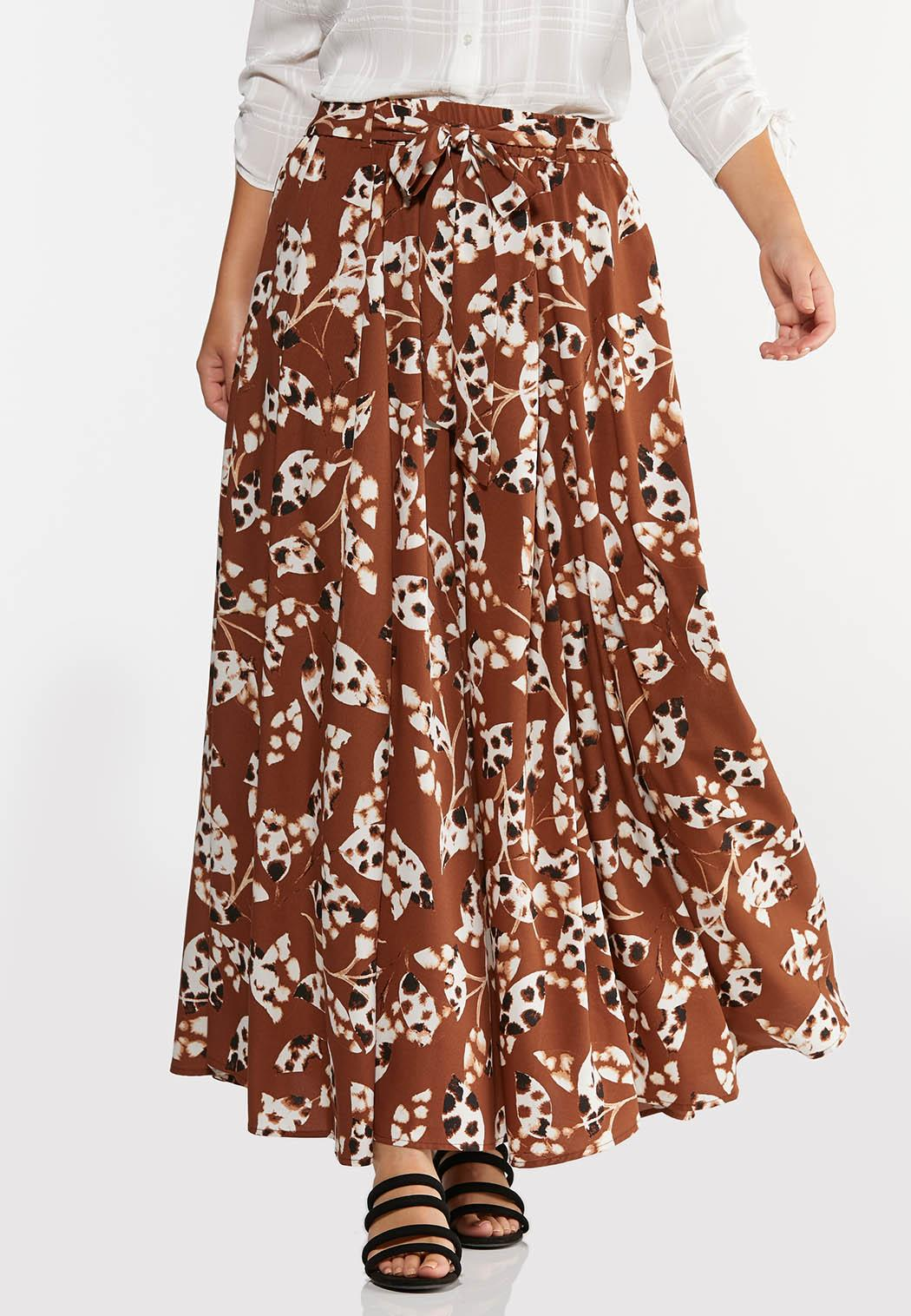 Spotted Leaf Maxi Skirt (Item #44295821)
