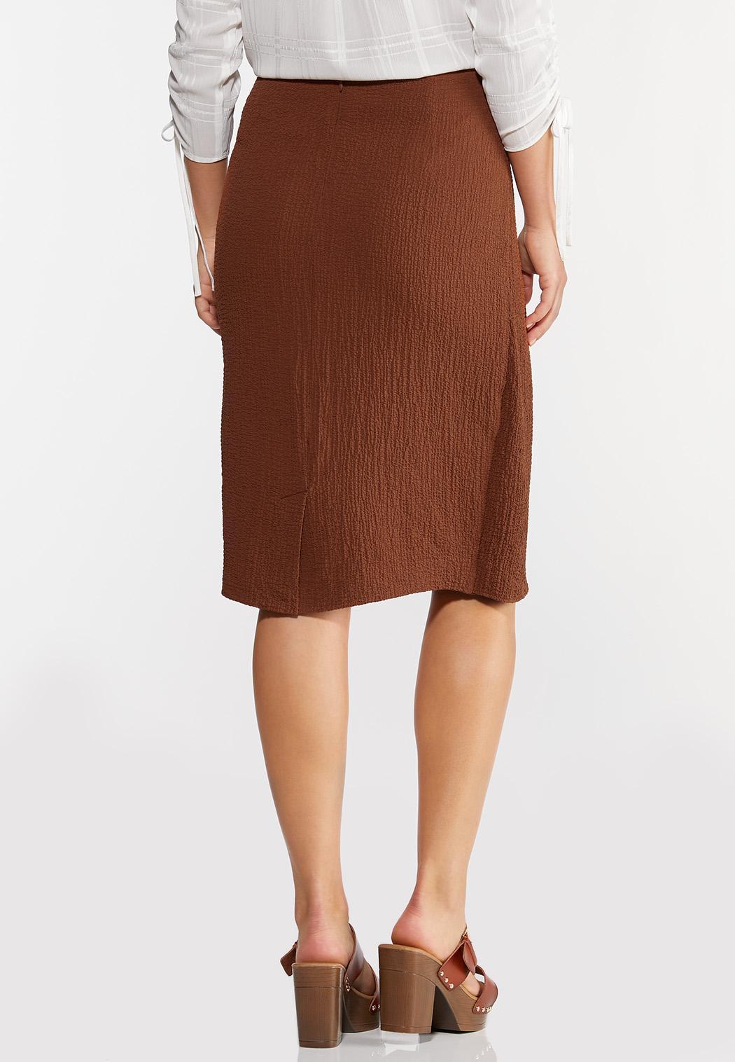 Textured Wrap Pencil Skirt (Item #44295931)